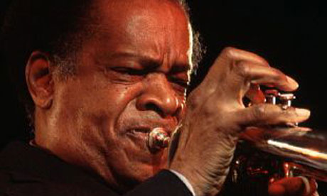 Donald Byrd playing trunpet
